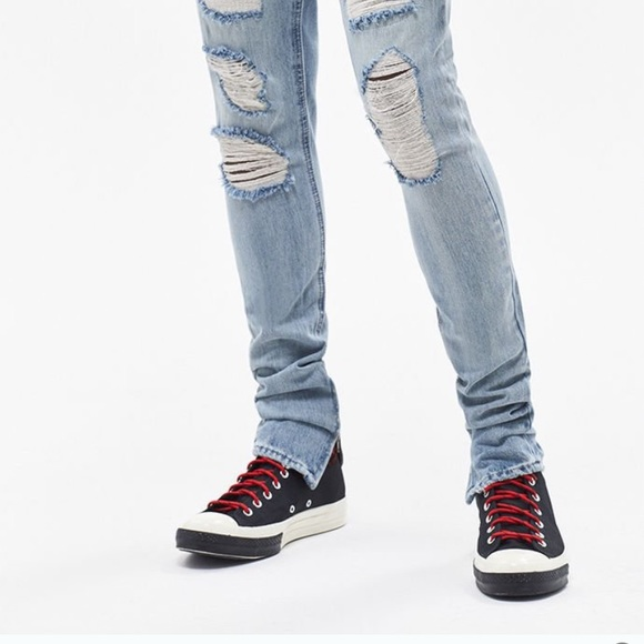 PacSun Skinny Ripped Studded Medium Jeans. M 5bfdcbe09539f7a2de3bceee 49b4073423e1